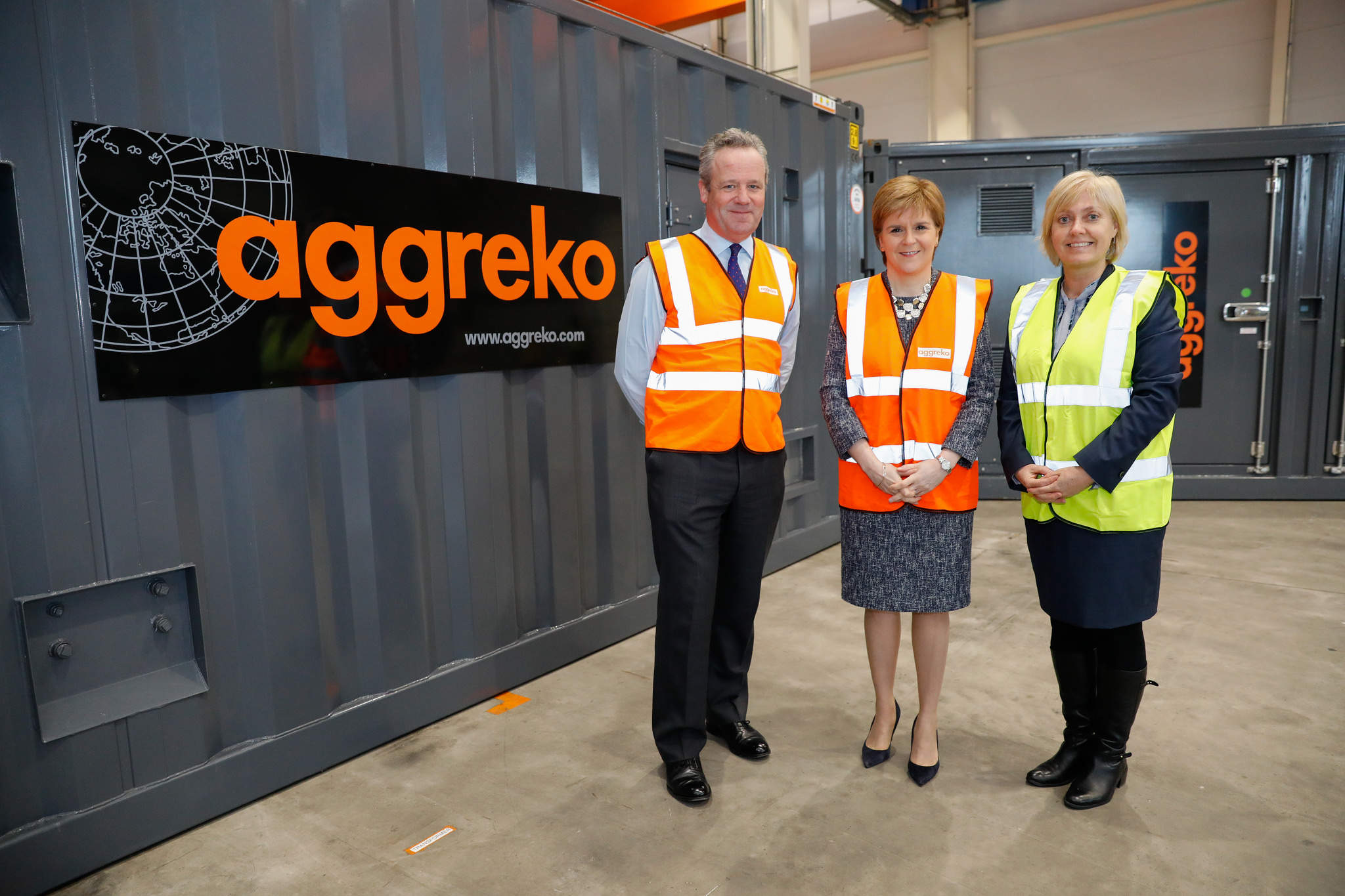 Renewable energy, technology, Nicola Sturgeon, Aggreko