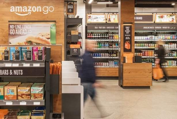 Amazon Go, cashless society Amazon predictions, clicks and mortar