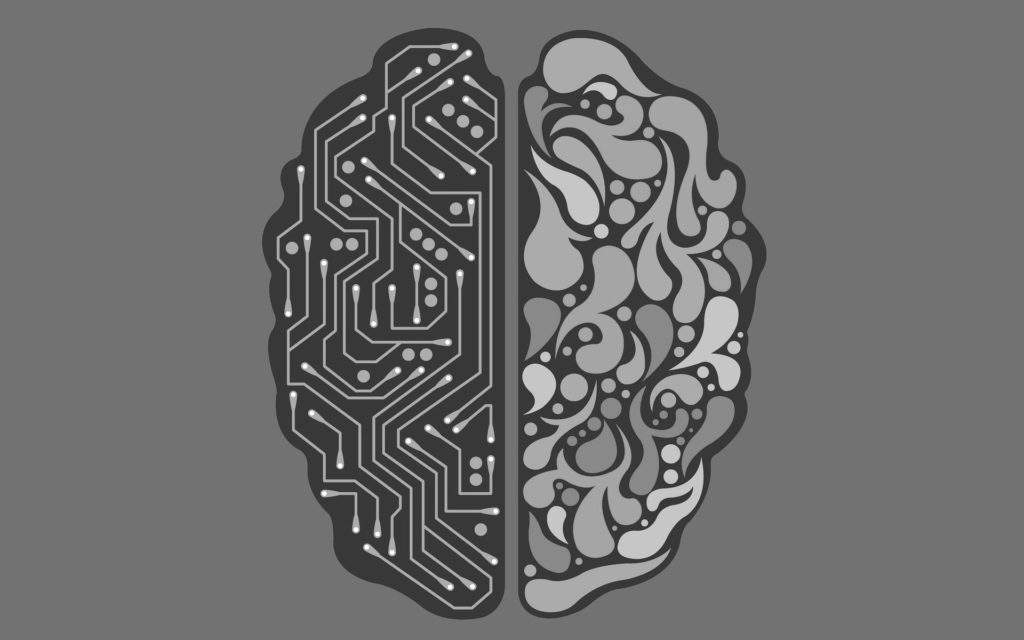 AI technology, brain
