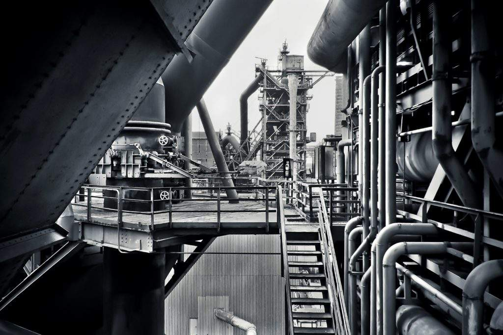 Steel, factory