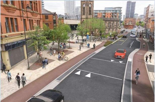 City cycle scheme, Manchester Beelines