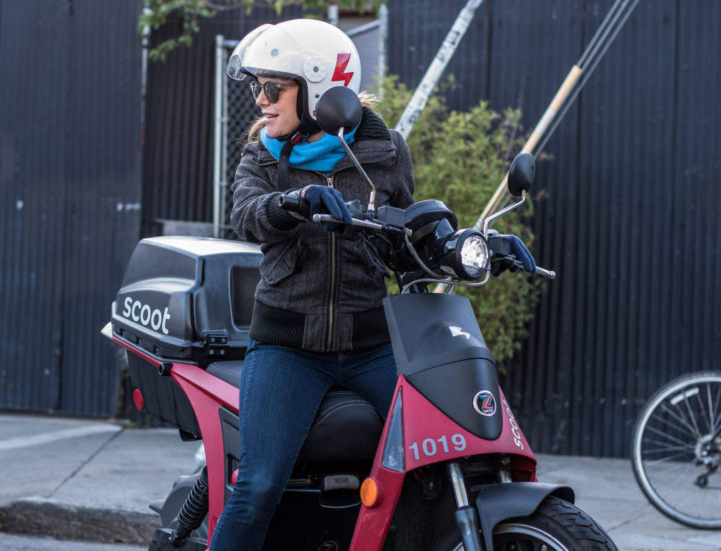 Electric scooter hire