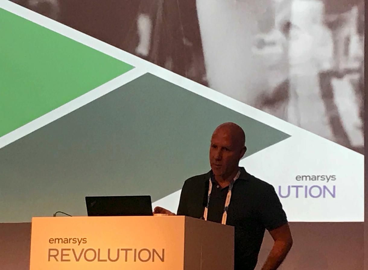 Rob Feldmann CEO of BrandAlley speaking at Earsys Revolution 2018