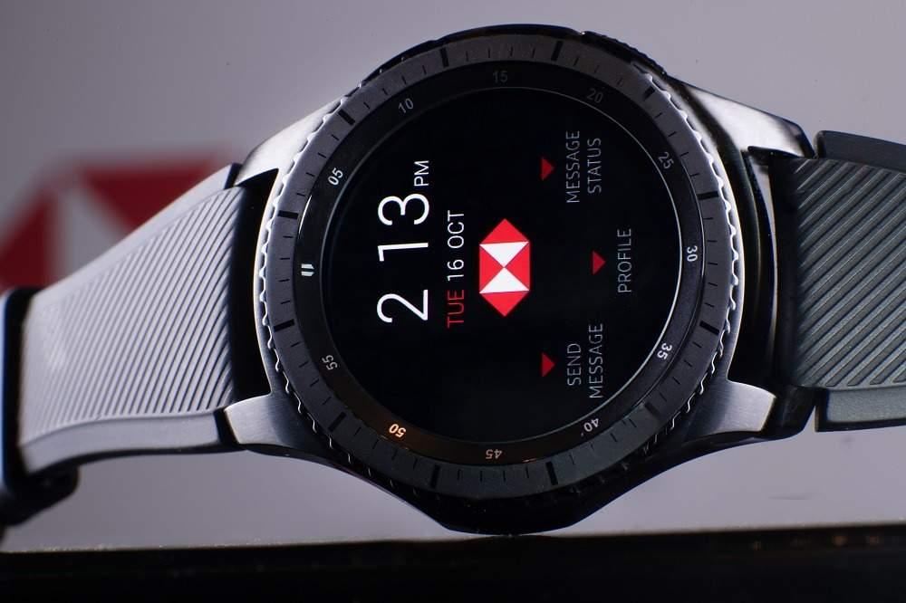 Samsung wearable tech in HSBC