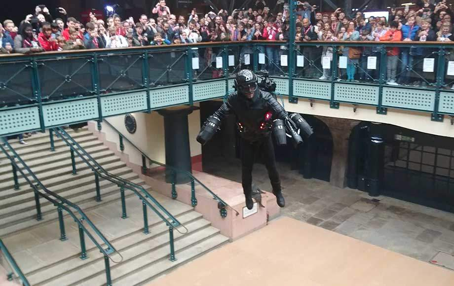 Gravity Industries jet suit on display in Covent Garden, London (Credit: Gravity Industries)