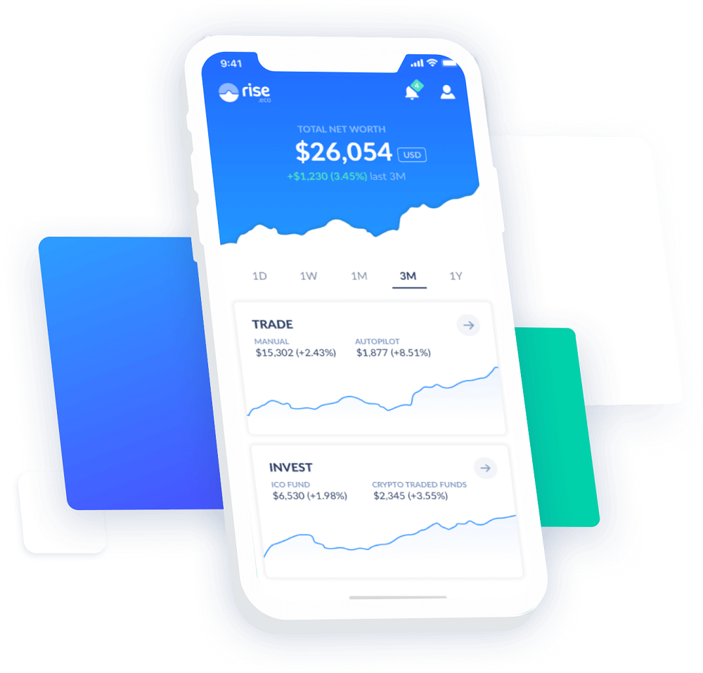 Users can access the rise AI stock trader through an app
