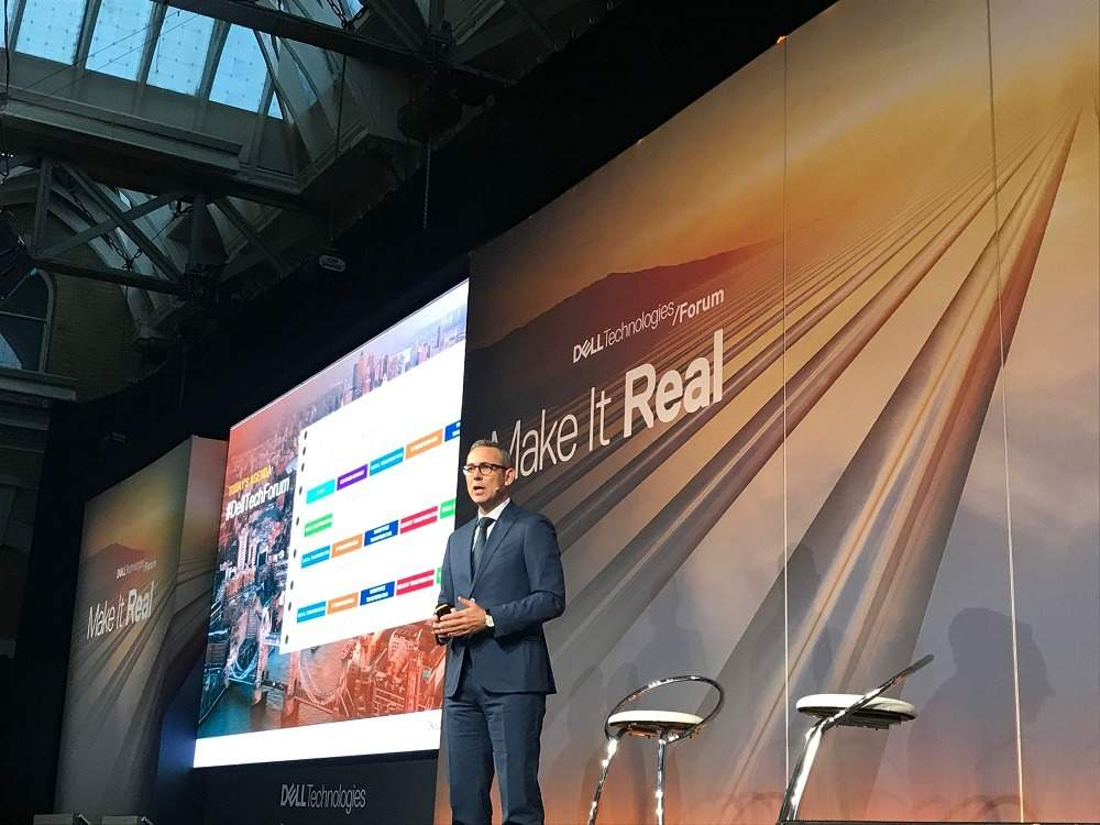 Dayne Turbitt, senior vice president of Dell EMC UK and Ireland, speaking at the announcement of the Dell Digital Transformation Index