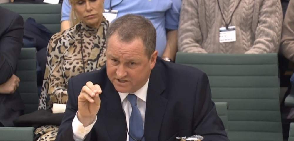 Mike Ashley gave his suggestions on how to revive the high street in Parliament