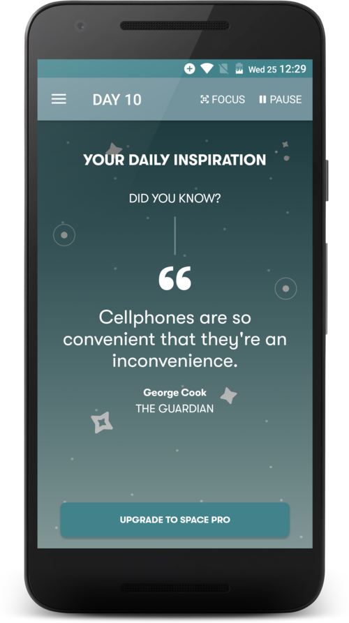 Space phone app