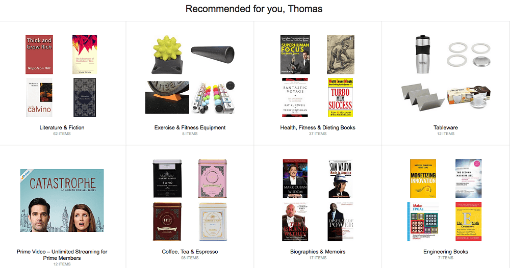 Amazon recommended for you, hyper-personalisation in shopping